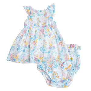 Cranes Sundress and Diaper Cover