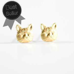 Grey Theory Mill - Cat Earrings