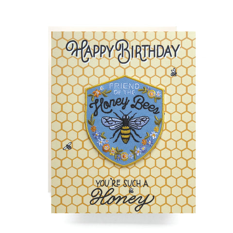 Patch Greeting Card | Honeybee Birthday