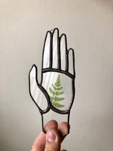 Fern Stained Glass Hand - Cedar & Spruce