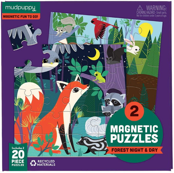 Forest Night and Day Magnetic Puzzles