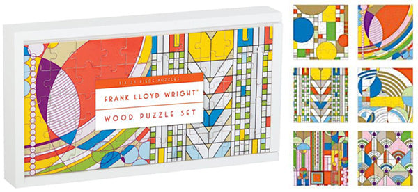 Frank Lloyd Wright Wood Puzzle Set