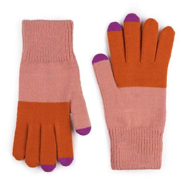 Colorblock Touchscreen Gloves