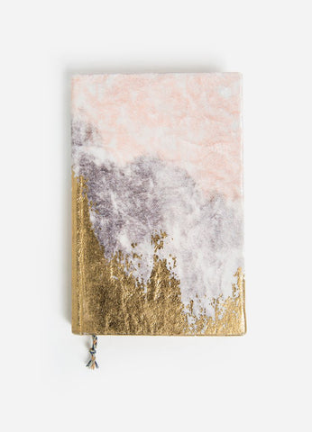 Faded Blush Velvet Gratitude Journal