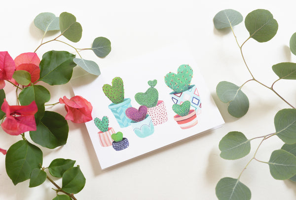 Heart Cacti Card