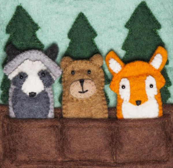 Felted Woodland Friends Kids' Puppet Bag