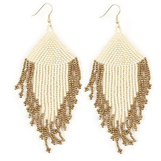 Fringe Seed Bead Earrings