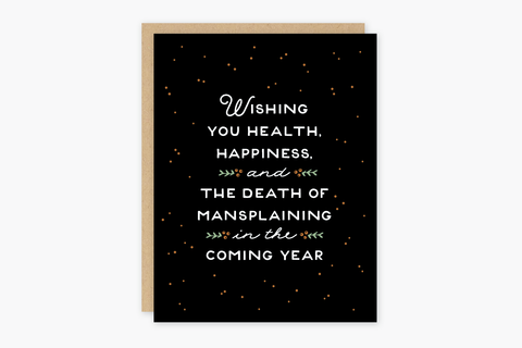 Mansplaining Holiday Card