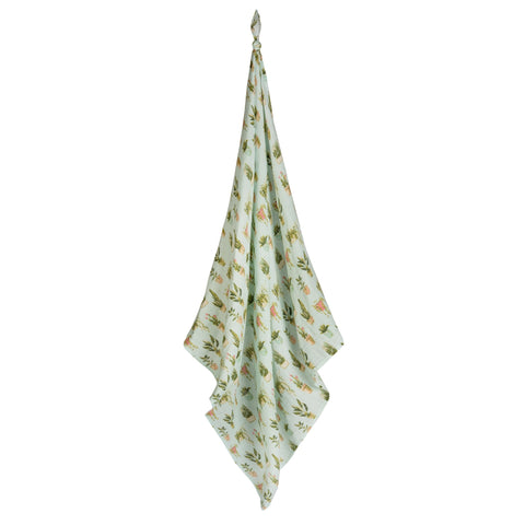 Bamboo + Cotton Potted Plants Swaddle