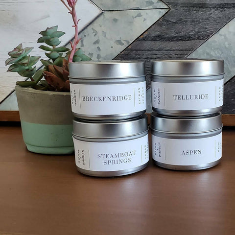 Mini Colorado Collection Soy Candle - Roam + Wander