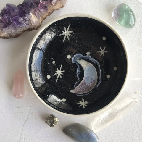 Ceramic Mini Moon Dish