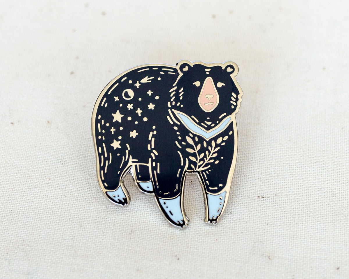 Moon Bear Enamel Pin