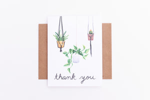 Hanging Plants Thanks Card
