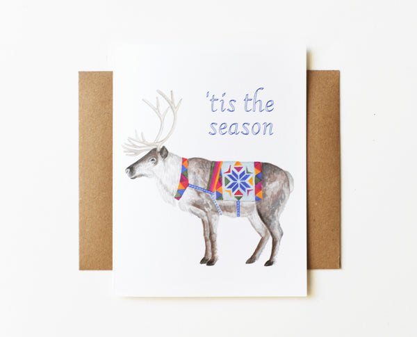 Reindeer Holiday Card