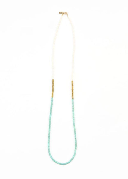 Necklace - Simple Color Block Coconut