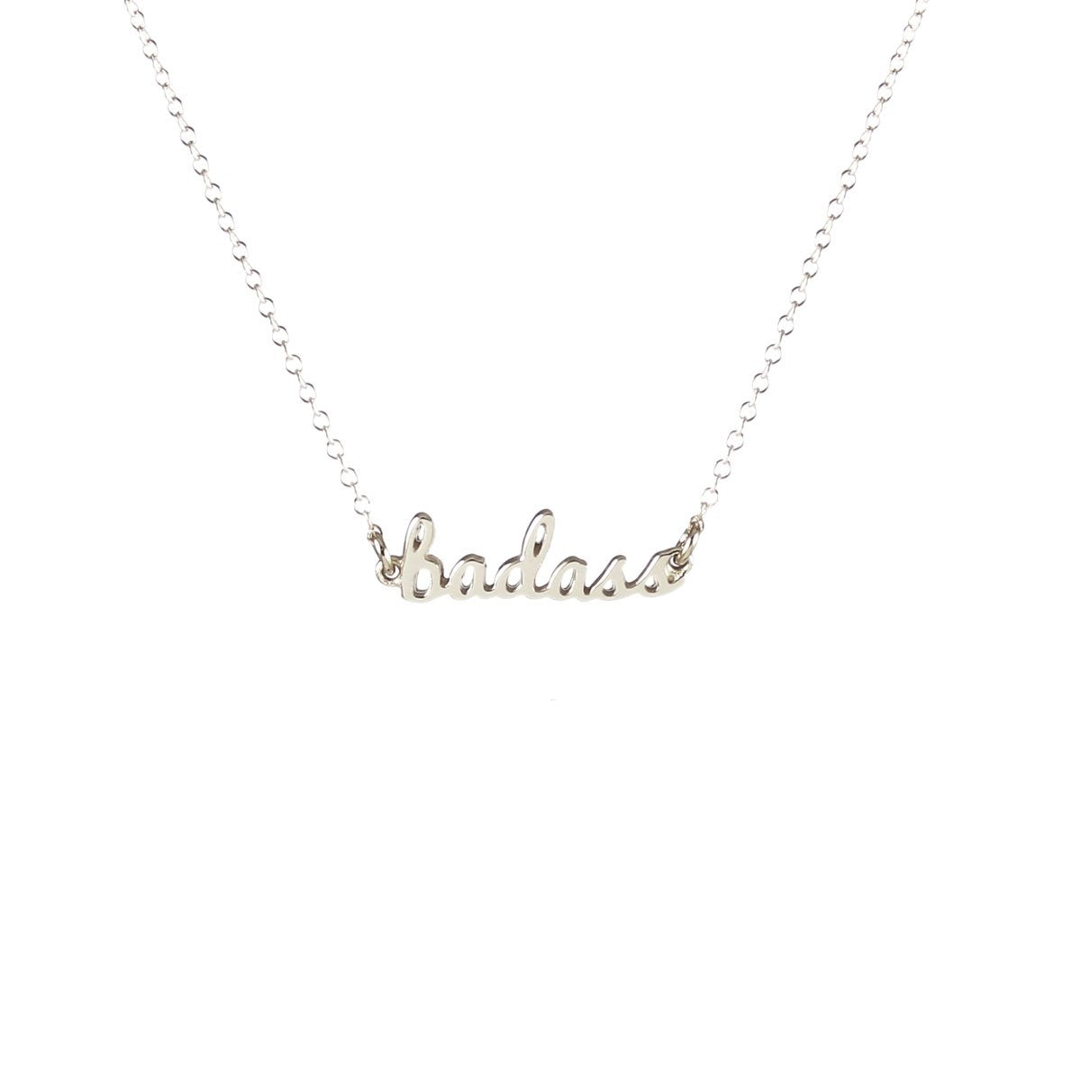 Cursive Word Necklace - mama + badass