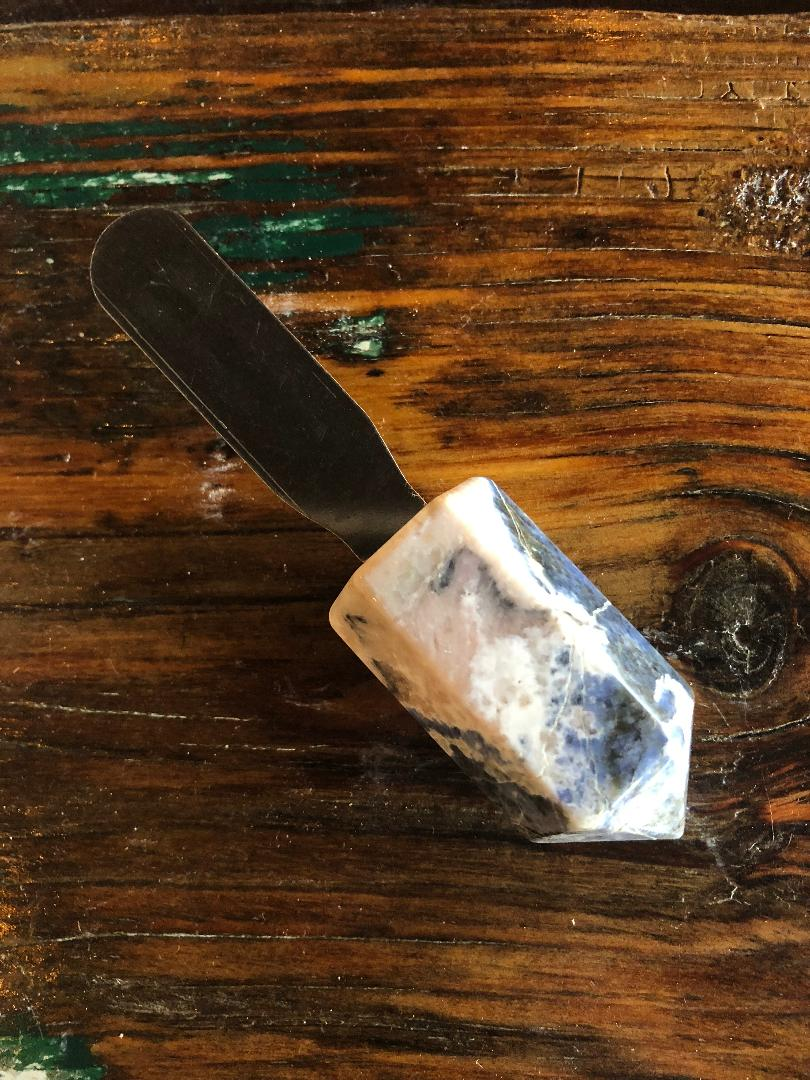 Cheese Knife with Crystal Handle
