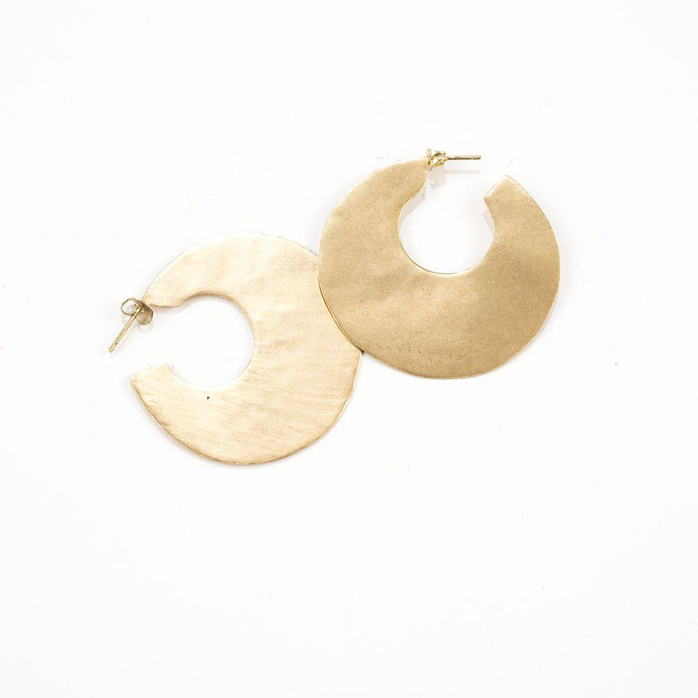Earrings - Solid Brass Hoop