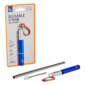 Reusable Travel Straw - Stainless Steel