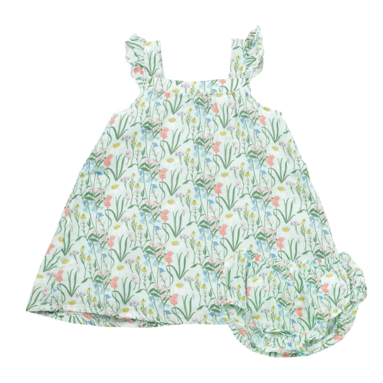 Floral Sundress and Diaper Cover