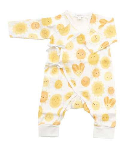 Wrap Coverall with Sun Print