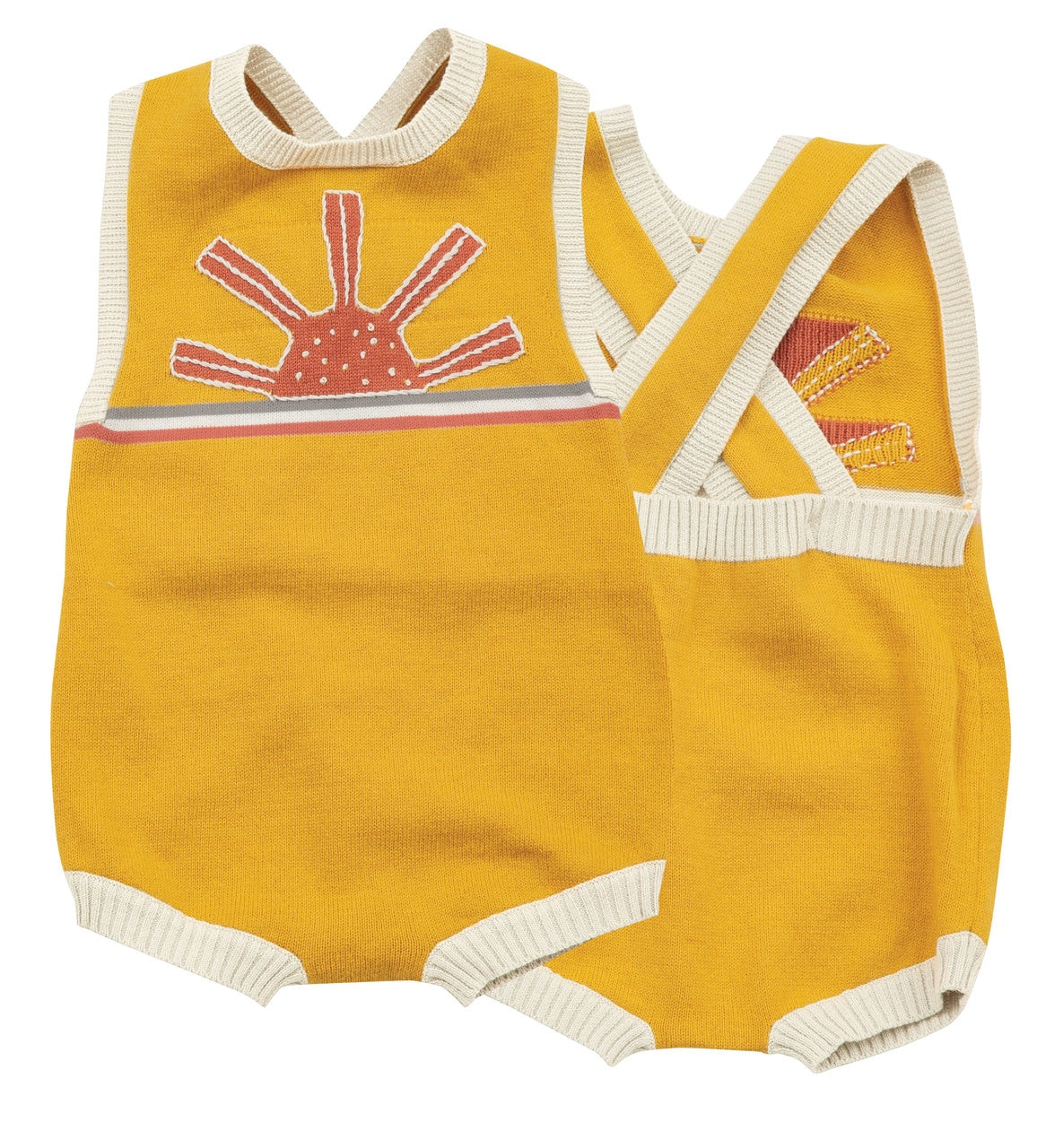 Knit Sunsuit with Vintage-Style Sun Intarsia