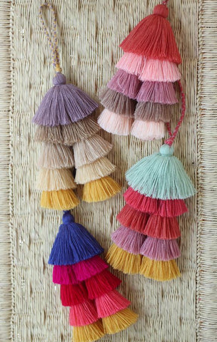 Stacked Tassel Bag Charm