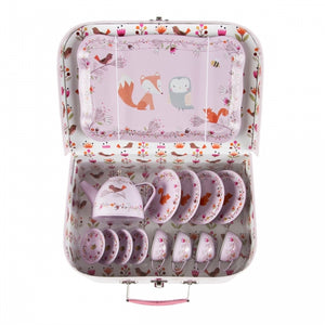 Picnic Box Tea Set - Pink Woodland Animals