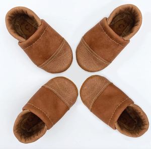 Leather Baby Shoes - Two Tone Loafers