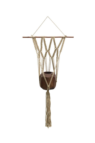 "Macrame Wall Plant Hanger - 36"" long"