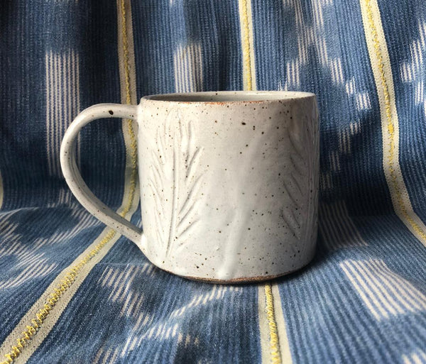 Ceramic Feather Mug