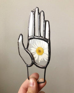 Floral Stained Glass Hand