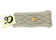 Aran Traditions Cable Knit Headband in the colour oatmeal