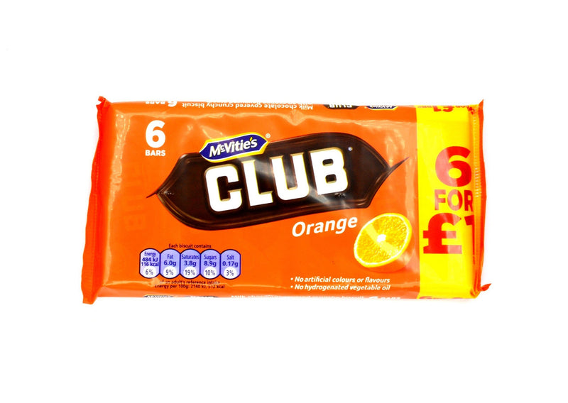 McVities Club Orange - 6 bars