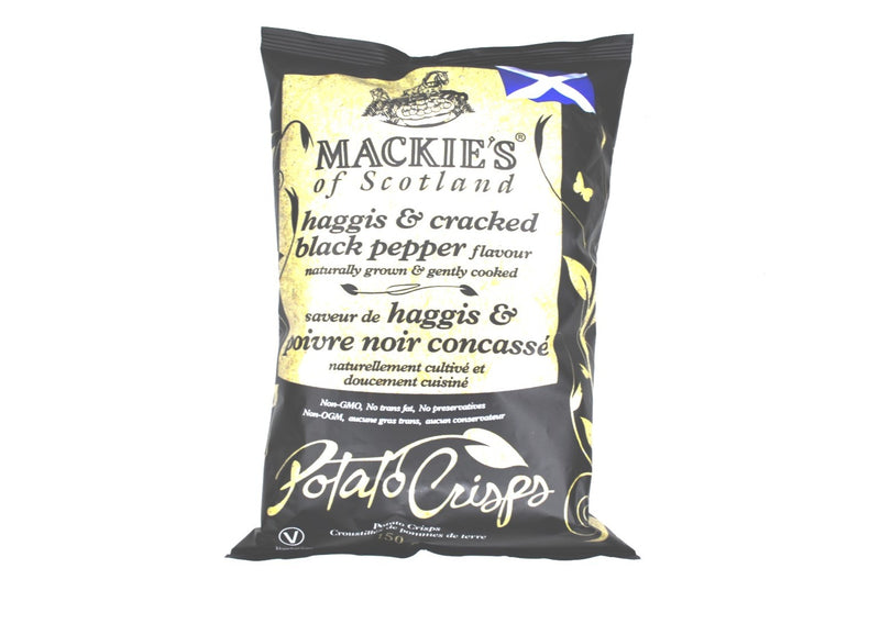 Mackies Haggis & Cracked Black Pepper Crisps - 150g