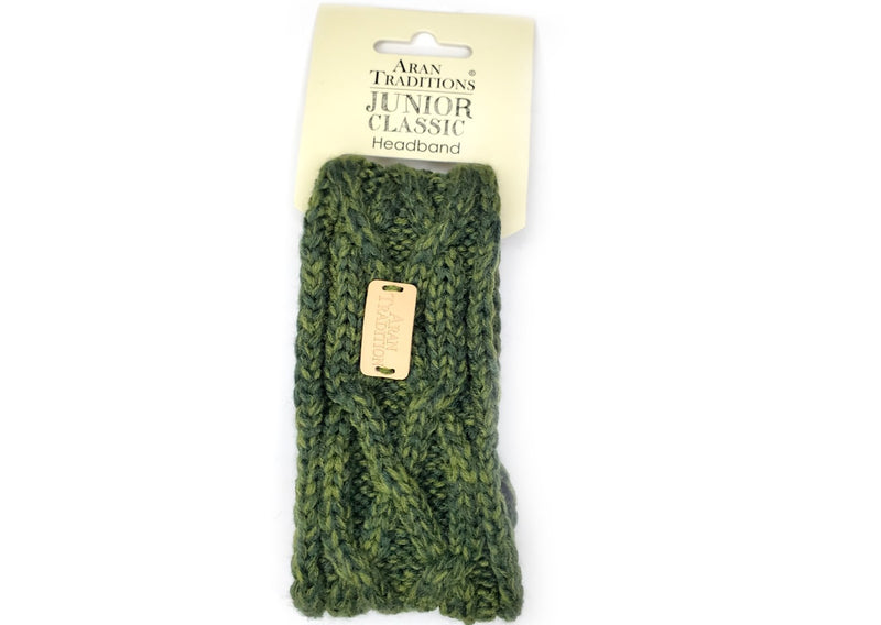 Aran Traditions Junior Classic Headband - Dark Green