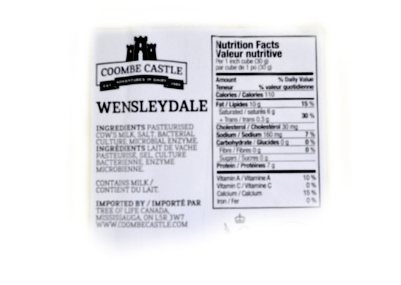 Coombe Castle Wensleydale Cheese - 200g