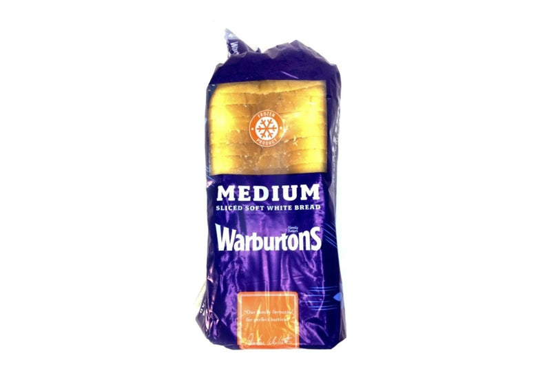 Warburtons Medium White Sliced Bread - 800g