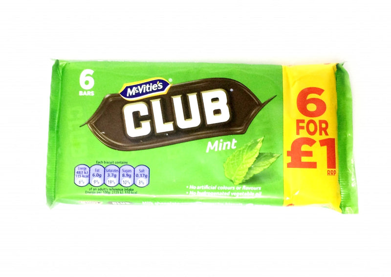 McVities Club Mint - 6 bars