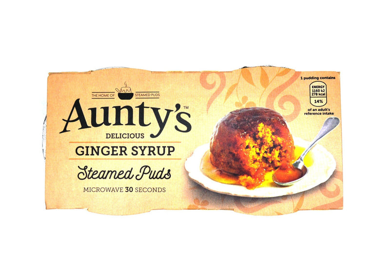 Aunty's Ginger Syrup Steamed Puds - 2 x 95g