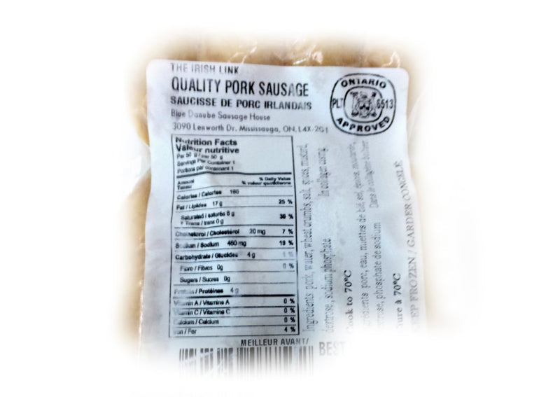 Irish Link Sausage - 450g