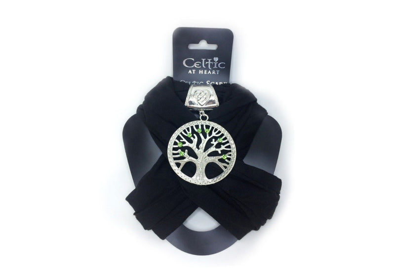Celtic at Heart Celtic Scarf - Black