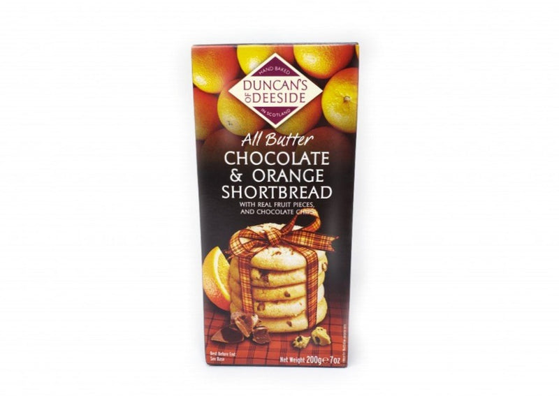 Duncans of Deeside All Butter Chocolate & Orange Shortbread - 200g
