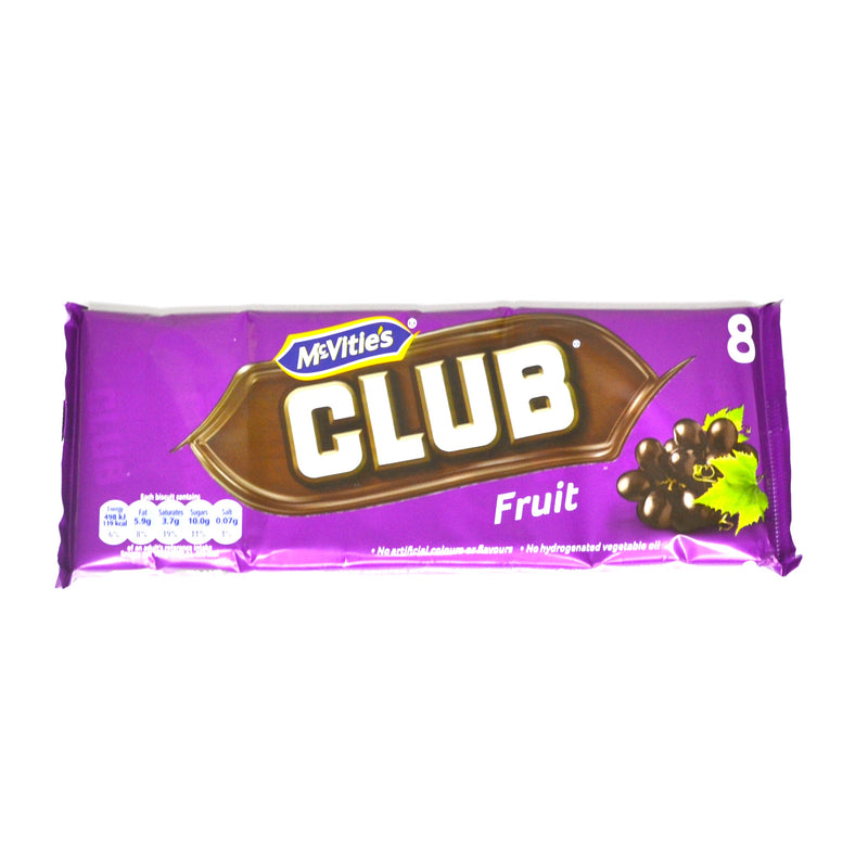 McVities Club Fruit - 8 bars