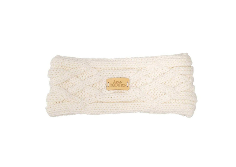 Aran Traditions Cable Knit Headband - Cream