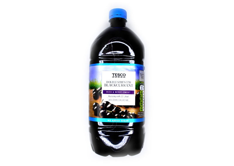 Tesco Double Strength Blackcurrant Squash - 750ml