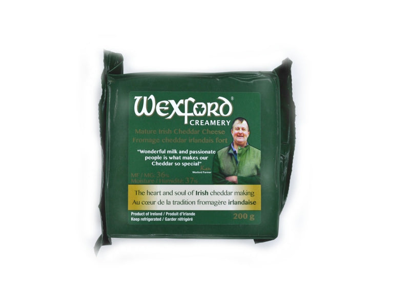 wexford creamery mature irish cheddar cheese 200 gram package