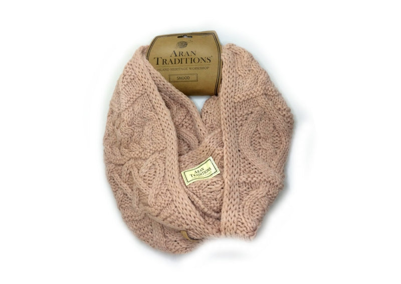 Aran Traditions Cable Snood - Blush