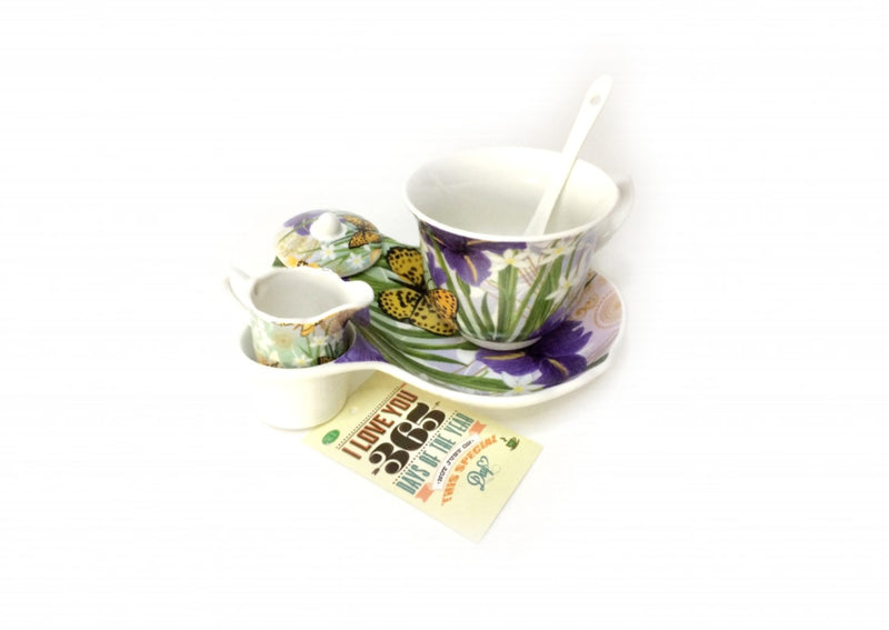 Tea Set for One -  Floral Gift Set