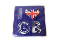 I Love GB Serviettes - 16 pack